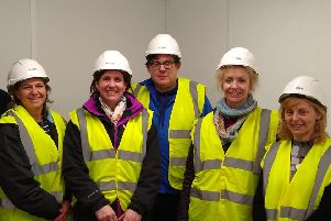 Live Earth - an initiative put together by Global Sleaford with the support of the district council, Christian Aid and Sleaford Renewable Energy Plant. Pictured, from left - Sally Darling and Helen Rutter, James Keetch, Liz Regan and Sue Feary.