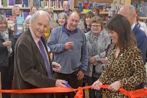 A ribbon-cutting ceremony was held to mark the opening of the Buckingham Bookshop last week in a new location within the university