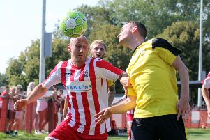 Andrew Stidder booked Easington Sports' place in the last four