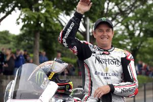 John McGuinness hopes to race the Norton V4 at the North West 200 in May.