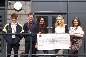 Kineton High School's year 12s Joe Marston, Joe Jobling, Jasmine Nahal, Mia Bainbridge and Ellie Griffiths. NNL-190104-183852001