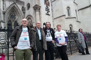Keep the Horton General Legal team outside the High Court in December 2017: Peter McLoughlin, Dr Peter Fisher, Keith Strangwood and Charlotte Bird NNL-170812-173746001