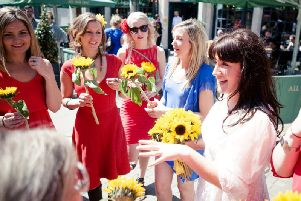 Sophie Tanner on her wedding day in 2015 at Brighton Fringe (Credit: SWNS)