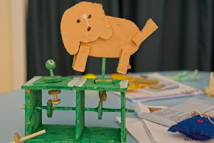 A moving dog one of the pupils made. Photo: Michael Robertson-Smith
