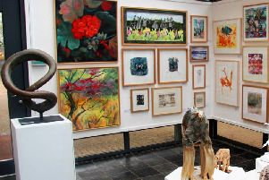 Entries for last year's Open Selection Exhibition at the Heseltine Gallery in Middleton Cheney. Photo: SNC