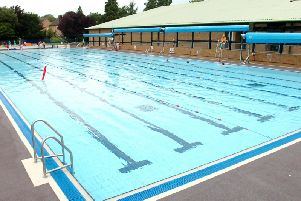 The outdoor pool opens May 4