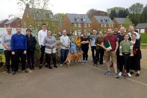 Just some of the residents of Hanwell Chase who are still chasing developer Persimmon Homes for repairs to be done