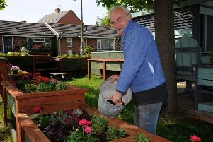 East Close Community Garden, Banbury. Bob Bathe. NNL-190514-142742009