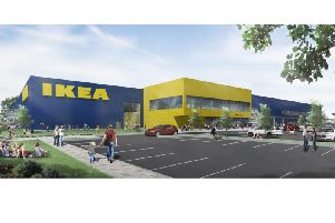 An artist's impression of the proposed IKEA