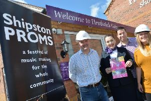 Representatives from Shipston Proms and Taylor Wimpey Midlands celebrate the donation. Photo: Taylor Wimpey Midlands