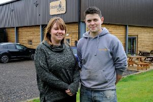 Monkeybean Cafe, Shenington. Joint proprietors, Anna Pearce and Tom Coleman