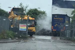 The steaming pile of green waste at Robinson Way