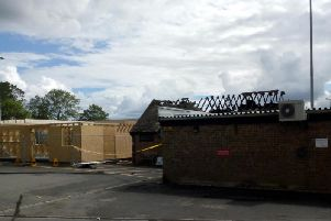 The new build next to the clubhouse has been undamaged