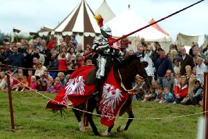 English Tournament Society holds a battle re-enactment and medieval tournament to mark 540 years since the Battle of Edgcote