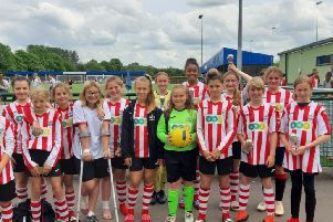 Easington Girls Football Club U13s who are encouraged to invest in good sports bras NNL-190807-144833001