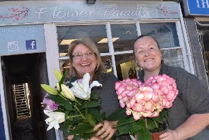 Blooming - owners of Flower Paradise, Cheryl Davies and Sam York.
