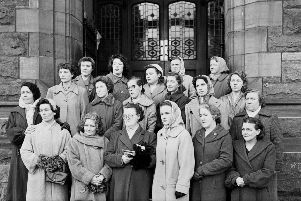 1959... The famous photo of the '19 Mothers from Springtown Camp' which is to be recreated next month.