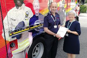 Oxfordshire�s Chief Fire Officer Simon Furlong and Oxfordshire County Cllr Judith Heathcoat NNL-190907-160824001