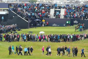 Thousands upon thousands of people descended upon the Dunluce links at Royal Portrush for round one of the 148th Open Championship on Thursday. (Photo: Pacemaker)