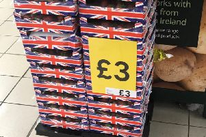 Union flag boxes