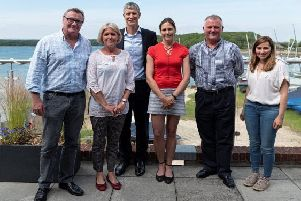 Experts at Chichester Harbour Conservancy's recent symposium, from left, researcher David Jones, senior lecturer Dr Corina Ciocan, harbour master Richard Craven, physicist Dr Helen Czerski, Friends of Chichester Harbour chairman Oliver Chipperfield and researcher Serena Cunsolo