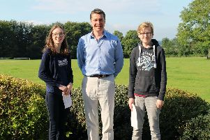 Sibford students Charlotte and Ethan with head Toby Spence