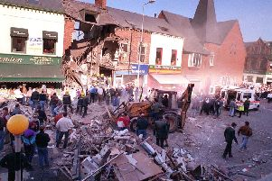 Ambulance service treat the victims of the Shankill Road bomb