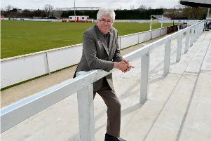 Brackley Town chairman Francis Oliver at St James Park