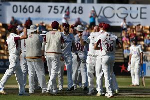 Northants were able to celebrate plenty of success against Durham on the third day at the County Ground (picture: Dave Ikin)