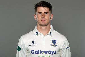 George Garton found form with the bat on day two v Worcs / Picture: Getty Images