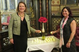 MP Victoria Prentis and Oxfordshire Sands chair Karen Hancox NNL-181016-131503001