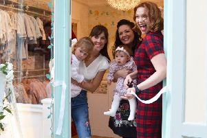 A star has been born with a beautiful baby and toddler wear shop in Bedford's Edwardian Arcade - with TV celebrities joining a VIP event.