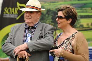 The late Tom Clarke with his daughter Libby pictured at Lurgan Show. Picture: Alfie Shaw