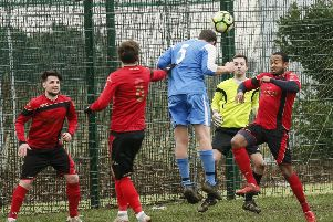 Caldecote Reserves vs Houghton. Picture: David Kay