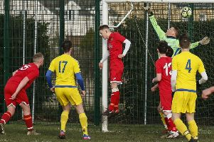 Caldecote v Wootton BC. Picture: David Kay
