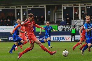 Jack Stacey makes it 2-1 to Luton on Saturday