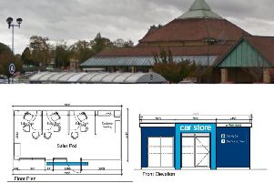 A single-storey 'Car Store' could be built on the car park of a Northampton supermarket.
