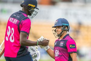 Ricardo Vasconcelos (right) and Jason Holder were in action for the Steelbacks (pictures: Kirsty Edmonds)