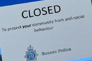 Adur and Worthing Police said the partial closure order was granted at court for an address in Broadwater