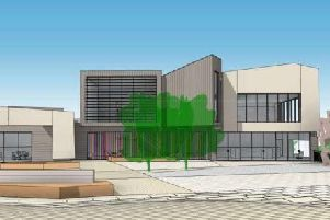 An artist's impression of how the new Mulberry Place cinema development will look at the the former library site off North Street in Daventry,