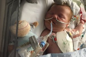 Oscar was admitted to the paediatric intensive care unit at Southampton Children's Hospital at four weeks old
