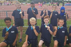 The Wigmore Primary pupils with their golf medals.