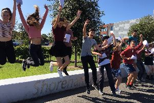 Shoreham Academy students celebrate their results