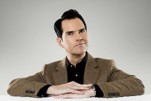 Jimmy Carr, coming to Skegness this week.
