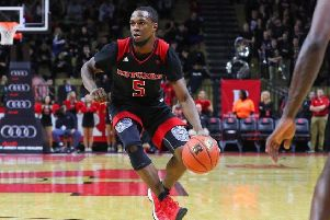 Mike Williams competing for New Jersey-based college team Rutgers.