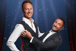 Ian Waite (left) and Vincent Simone are The Ballroom Boys. Picture by Image 1st London