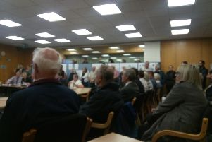 Villagers pack out the Bedford Council planning meeting