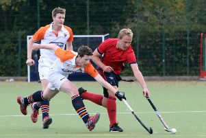 Banbury's Jonny Stirrup goes on the attack against Old Cranleighans