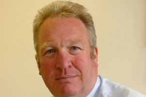 HH26'DS'MP Mike Penning in his Hemel Hempstead office.