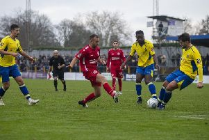 Hemel's Scott Shulton gave away a penalty in the first-half against Solihull Moors last night, but the Tudors should have been awarded their own spot kick later on.